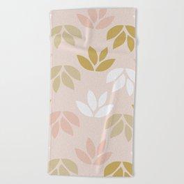 Leaves Pattern 3 Beach Towel