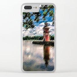 Moritzburg Lighthouse by Jeanpaul Ferro Clear iPhone Case