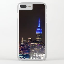 Midtown Manhattan at Night Clear iPhone Case