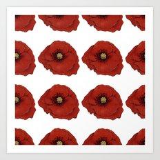I Adore Poppies Art Print