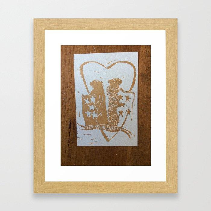 candlemas light Framed Art Print