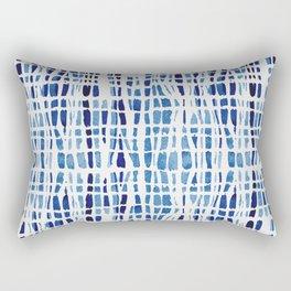 Shibori Braid Vivid Indigo Blue and White Rectangular Pillow