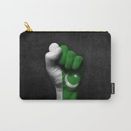 Pakistani Flag on a Raised Clenched Fist Carry-All Pouch