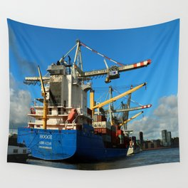 Container Ship Wall Tapestry