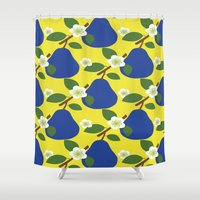 fruit Shower Curtains featuring FRUIT by Sheefteh