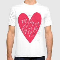Virginia is for Lovers Mens Fitted Tee MEDIUM White