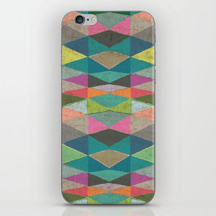 Colorblock Tribal Triangle Pattern iPhone Skin