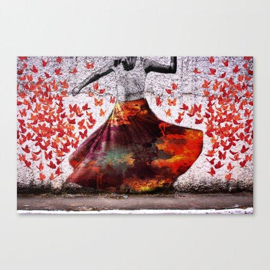 Flying Skirt Canvas Print