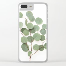 Eucalyptus Branch Clear iPhone Case