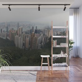 Hong Kong in the palm of my hand Wall Mural