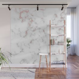 Marble Rose Gold Abstract Texture Wall Mural