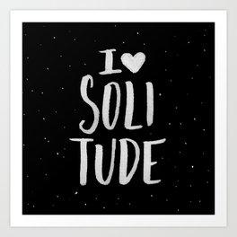 I Heart Solitude Art Print