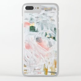 Emerging Abstact Clear iPhone Case