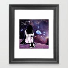 Gone away girl Framed Art Print