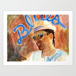 Livin' the Blues Art Print