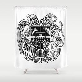ARMENIAN COAT OF ARMS - Black Shower Curtain