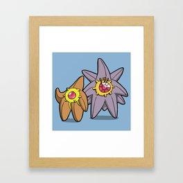 Pokémon - Number 120 & 121 Framed Art Print