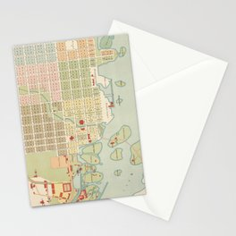 Vintage Map of Oulu Finland (1886) Stationery Cards