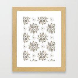 WOLF (white) Skull Pattern Series Framed Art Print
