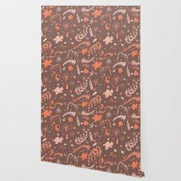 Brown + Orange Spring Folliage SS18 Wallpaper