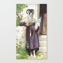The Sheep Spinner Canvas Print