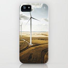 windturbine in nebraska iPhone Case
