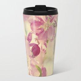 Pink Crabapple Blossom Travel Mug