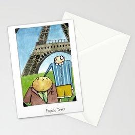 Tibbit and Franklin Visit Paris Stationery Cards