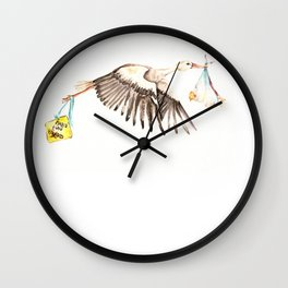 Baby on Bird Wall Clock