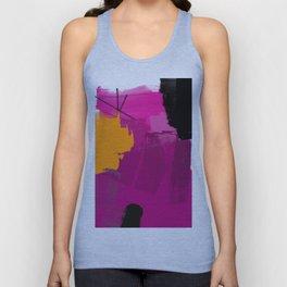 Purple abstract painting F06 pink black orange Digital painting Unisex Tank Top