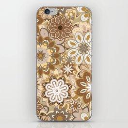 Floral boho mandala pattern iPhone Skin