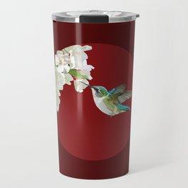 Ruby-Throated Hummingbird at the Blossom Travel Mug