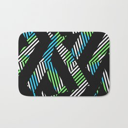 Triangle Theory, No.17 in Blue & Lime Bath Mat