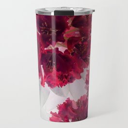 Solarized flowers with red petals Travel Mug