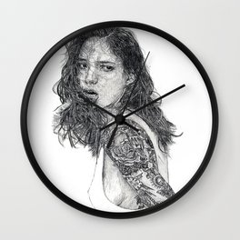 Lust & Tattoos Wall Clock