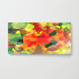 Abstract Polygon Forest Metal Print