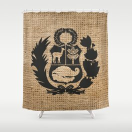Peru Rustic Shield Shower Curtain