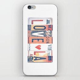 LOVE LA License Plate Art iPhone Skin