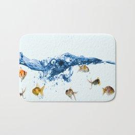 Keep swiming Bath Mat