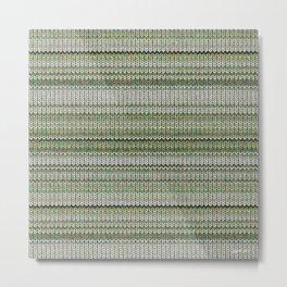 Cactus Garden Knit 3 Metal Print