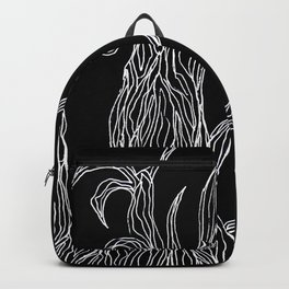 Spooky, Gnarly, Tree in b&w Backpack