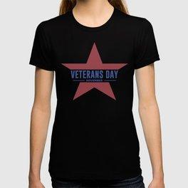 Veterans Day Commemorative Star Design T-shirt