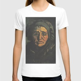 Head of a Peasant woman with Greenish Hood T-shirt