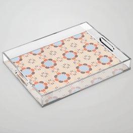 Blue Retro Tile Acrylic Tray