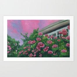 Houseflowers Art Print