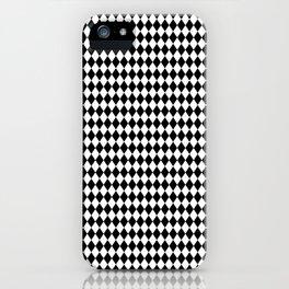 mini Black and White Mini Diamond Check Board Pattern iPhone Case