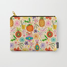 bright fruity christmas pattern Carry-All Pouch