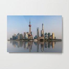 Reflections of Shanghai Metal Print