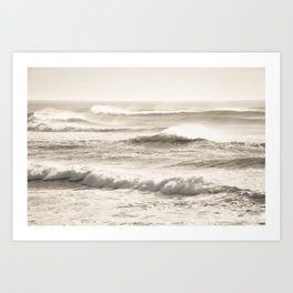 Windswept Waves Art Print