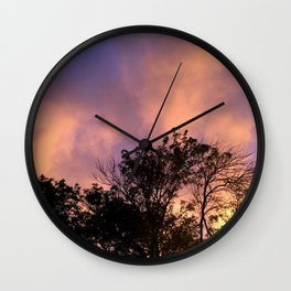 the skeleton of sunsets Wall Clock